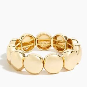 NWT J. Crew Large bead stretch bracelet gold AP691
